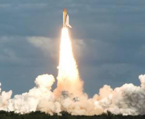 Il decollo dello Shuttle Atlantis