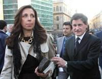 Isabella Rauti con il marito Gianni Alemanno