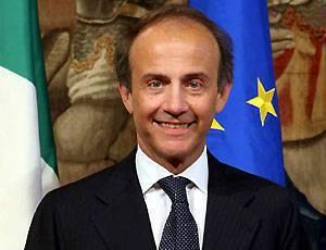 Il ministro per le politiche Comunitarie Andrea Ronchi