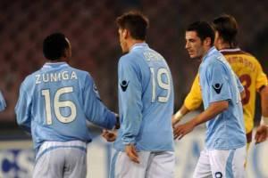 Zuniga, Denis e Bogliacino nel match contro il Cittadella