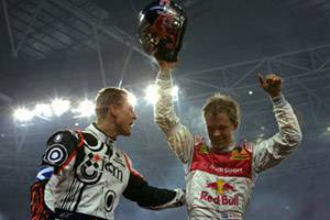 Schumacher si congratula in il vincitore Ekstroem