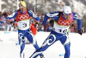 Di Centa in azione a Torino 2006 quando fece suo l'oro della 50 km