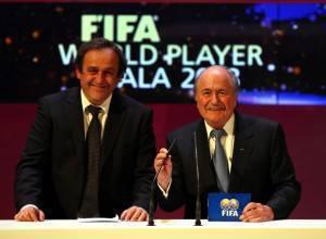 Michel Platini, 54 anni, con Joseph Blatter, 73