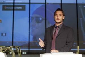Francesco Totti alla presentazione del suo nuovo sito ufficiale