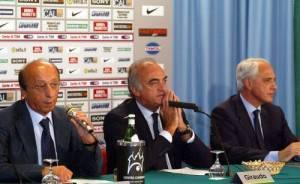 Moggi, Giraudo e Bettega ai tempi della Juve.