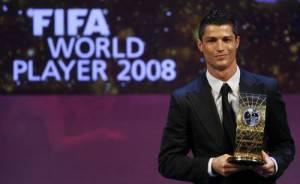 Cristiano Ronaldo, 24 anni, durante la cerimonia dell'anno scorso