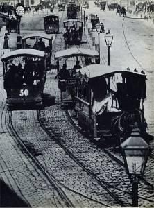 Horse tramway in Vienna 1872