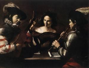 Mattia Preti, Concert, 1630,The Hermitage, St. Petersburg
