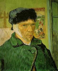 Van Gogh- Autoritratto con un orecchio fasciato