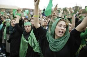Manifestazione del partito di Mousavi