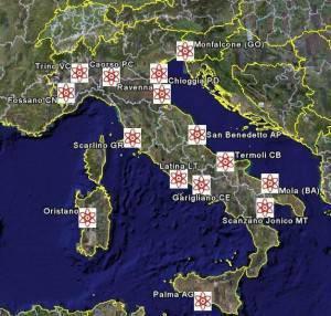 Mappatura dei siti nucleari per ora inattivi
