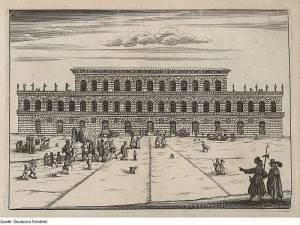 Palazzo Pitti in un' incisione del 1664