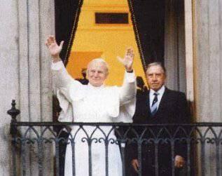 Papa Giovanni Paolo II e il Generale Augusto Pinochet