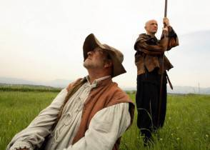 """ldalla pservillo phpalmieri 3h 294x210 Lucio Dalla nei panni di Sancho Panza, per il """"Quijote"""" di Mimmo Paladino"""