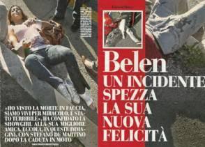 belen rodriguez stefano de martino incidente 294x211 Belen Rodriguez e Stefano De Martino: le foto dellincidente in moto