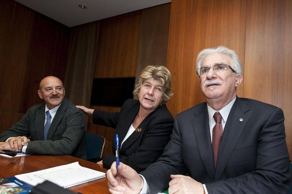 Susanna Camusso, Raffalele Bonanni e Luigi Angeletti