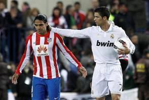 Falcao con Cristiano Ronaldo