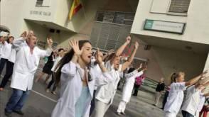 Lo sciopero dei lavoratori della sanità in Spagna