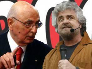 Napolitano e Grillo