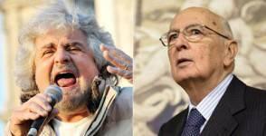 Grillo e Napolitano