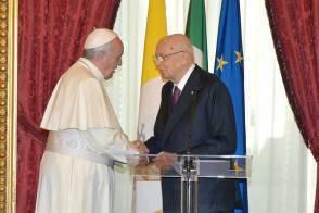 Papa e Napolitano