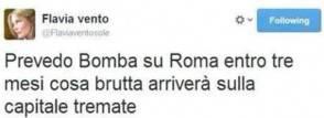 Flavia Vento bomba su Roma ed esplosione di insulti su Twitter