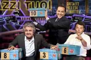 Grillo, Renzi, Berlusconi