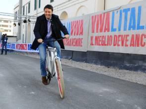Renzi in bici