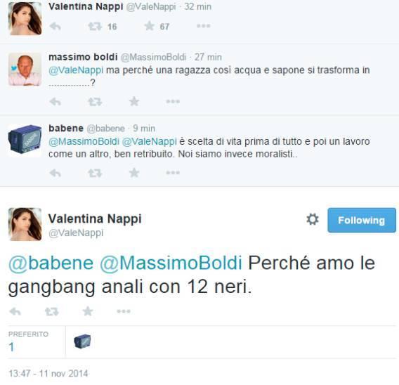 Valentina Nappi su Twitter