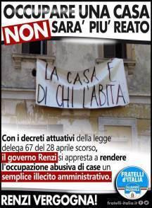 La propaganda di Fratelli d'Italia contro Renzi