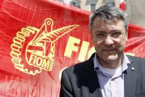 Riunione in piazza Montecitorio del comitato centrale della Fiom in occasione della consegna della proposta di legge di iniziativa popolare sulla democrazia sindacale