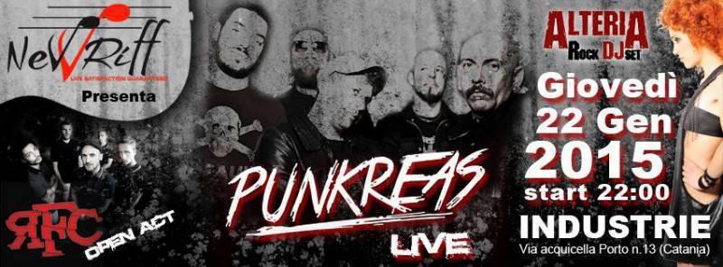 La locandina del concerto dei Punkreas