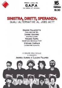 Sinistra Lavoro Catania evento Jobs Act