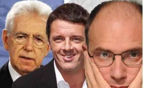 Monti, Renzi e Letta