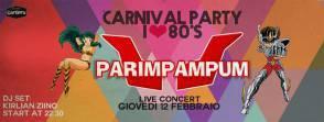 La locandina del concerto dei Parimpampum