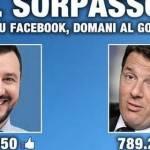 Salvini sorpassa Renzi su Facebook