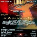 Sabato 13 Giugno 2015: a Benevento un pomeriggio con gli Ufo e i Big del C.UFO.M.