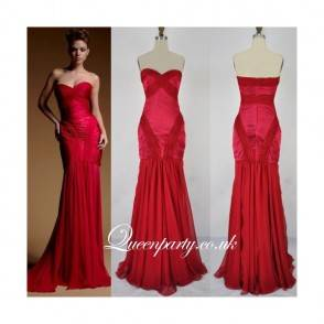 2015-fashion-red-sweetheart-mermaid-evening-gown