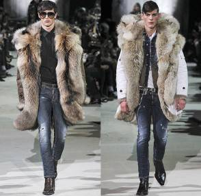 dsquared2-2015-2016-fall-autumn-winter-runway-milano-moda-uomo-fashion-italy-denim-jeans-furry-coat-parka-shearling-plaid-studs-fringes-suit-biker-01x