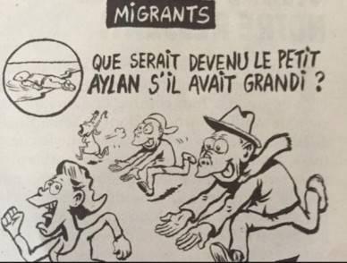 Charlie Hebdo e la vignetta sul piccolo Aylan cattivo gusto o satira