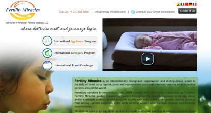 Un sito che offre l'Utero in Affitto