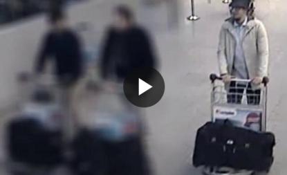 I tre attentatori dell'aeroporto di Bruxelles