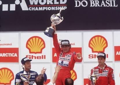 Senna vittorioso in Brasile
