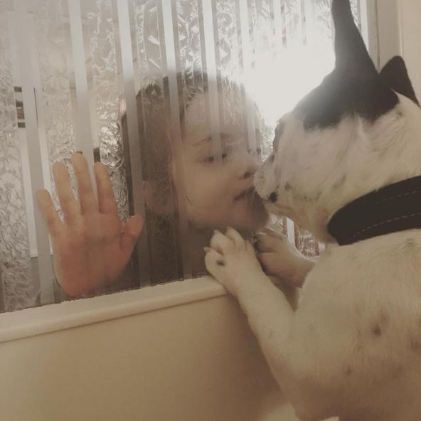 Amore tra cane e bimbo