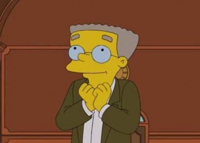 Smithers de I Simpson si rivela al signor Burns