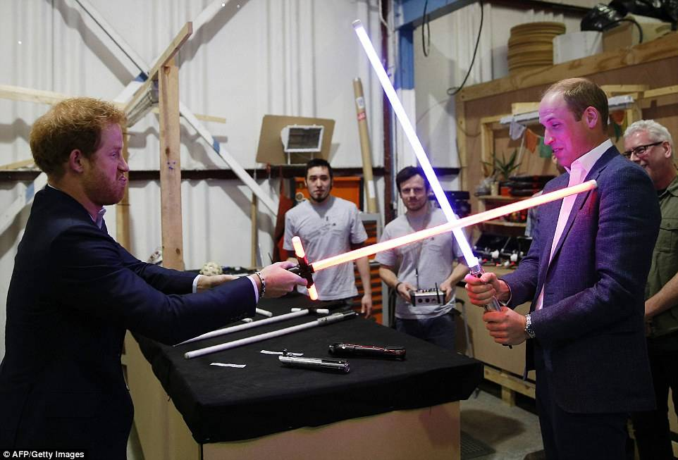 William ed Harry d'Inghilterra sul set di Star Wars