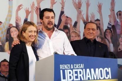 Meloni, Salvini, Berlusconi