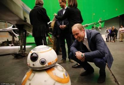 William e BB-8 sul set di Star Wars