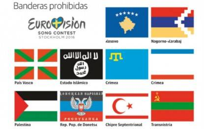 Eurovision bandiere vietate