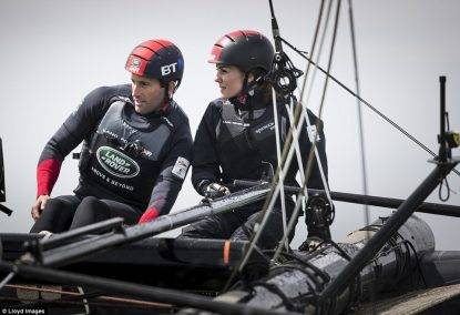 Kate Middleton a Portsmouth per provare l'emozione della vela